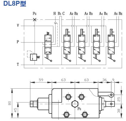 dl8p型多路换向阀液压原理图图片